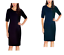 NEW-Mario-Serrani-Ladies-039-Knit-Dress-Elbow-length-sleeve-Variety thumbnail 1