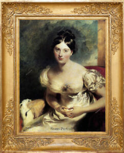 Old-Master-Art-Antique-Portrait-Woman-Oil-Painting-Lady-Countess-Unframed-30x40