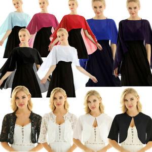Womens-Sheer-Lace-Bolero-Shawl-Wraps-Bolero-Capes-Shrug-Cropped-Tops-Cardigans