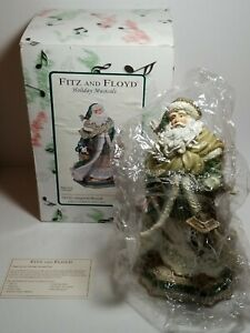 Fitz-and-Floyd-2007-Santa-Claus-Gregorian-Holiday-Musical-9-034-Silent-Night-Figure