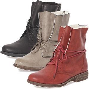 damen boots winter stiefeletten winterschuhe teddy fell 697 warm 36 41 neu top ebay. Black Bedroom Furniture Sets. Home Design Ideas