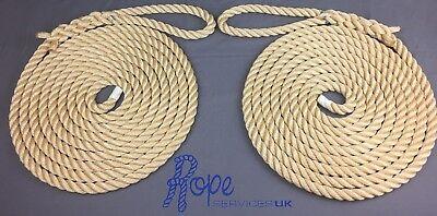 Mooring Ropes Softline Warps Boat Lines Yacht Sailing Dock