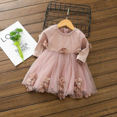 Princess Wedding Party Prom Birthday Dress Skirt Tutu Dresses For Baby Girl 0-4Y