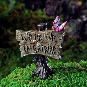 Image Is Loading Miniature Fairy Garden Sign W Butterfly Pick We