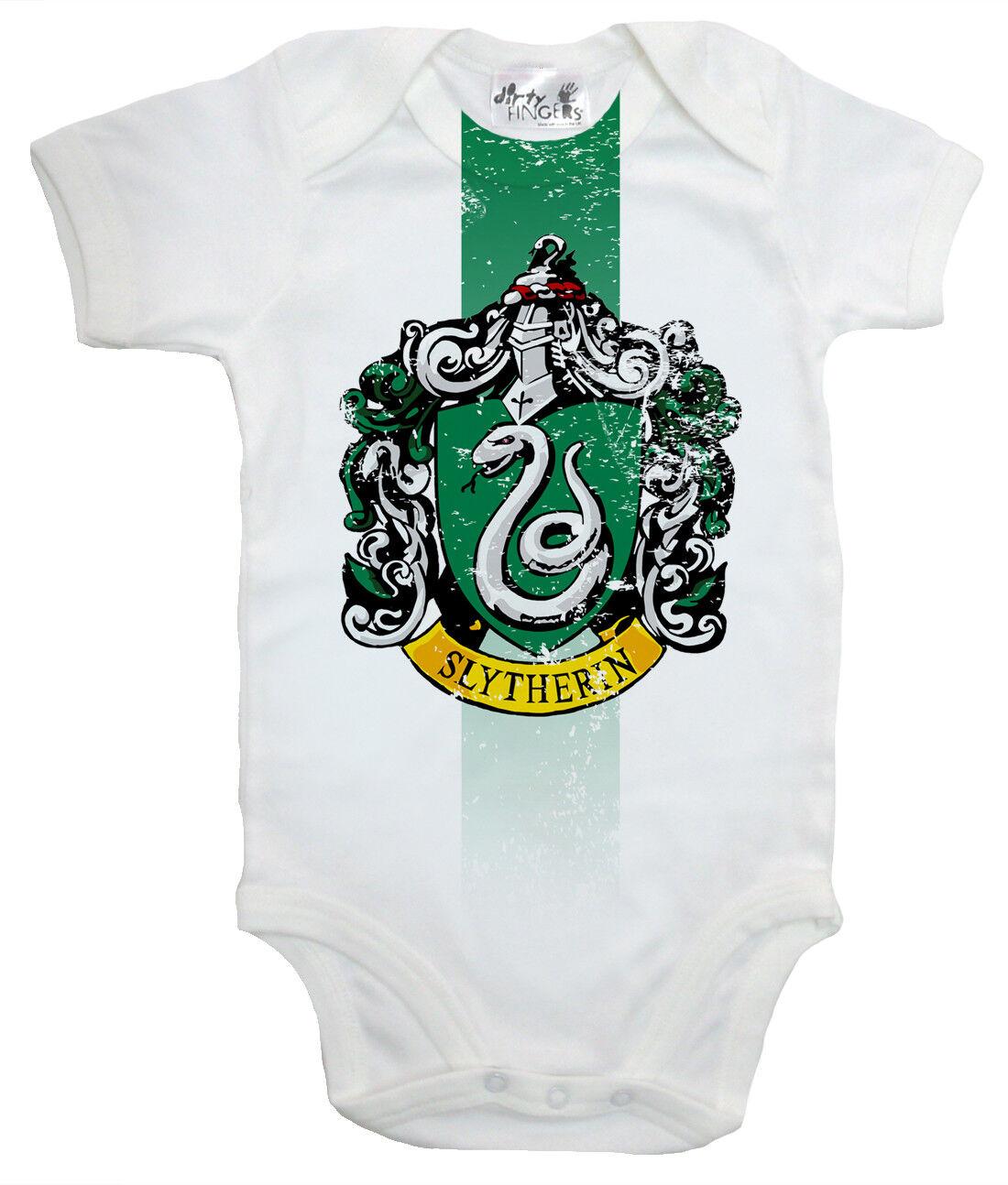 """Harry Potter Baby Body /"""" Slytherin House Crest /"""" Baby-Body Hogwarts"""