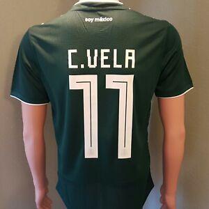 189ea7e0c adidas Carlos Vela  11 Mexico Home Men s Soccer Jersey Green