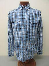 DOLCE & GABBANA SICILIA Made in Italy Plaid Western Cut Shirt Size 15 3/4 $440