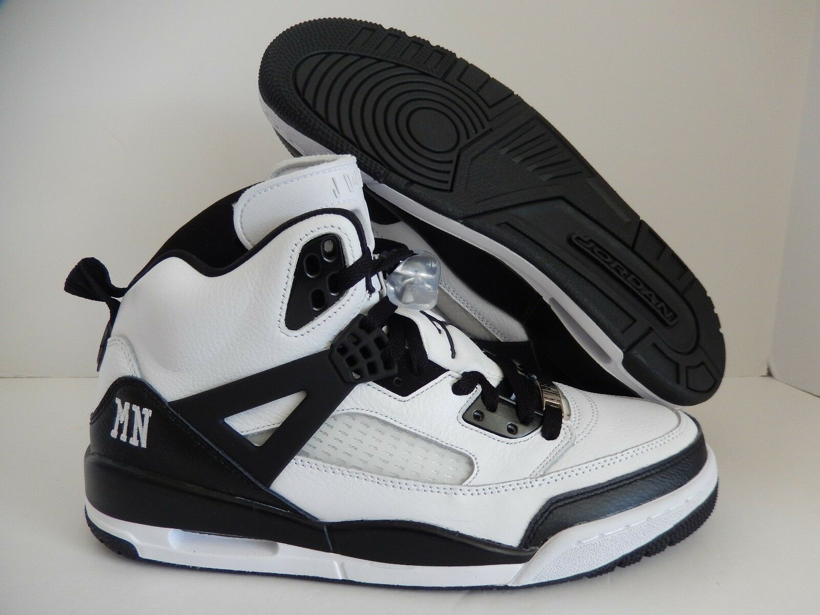 Nike air jordan spizike id WEISS-schwarz sz 10,5 [605236-999]