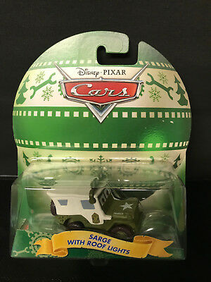 DISNEY PIXAR CARS HOLIDAY SARGE WITH ROOF LIGHTS STORY TELLERS SAVE 6/% GMC
