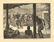 British India, Famine In Bengal, Arrival Of Relief In A Distressed Village, 1874