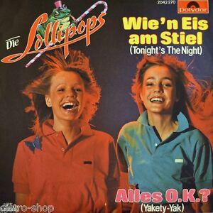 7-034-LOLLIPOPS-Wie-039-n-Eis-am-Stiel-SWINGING-BLUE-JEANS-Tonight-039-s-The-Night-POLYDOR