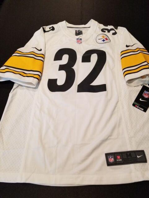 dd18a408182 Nike Pittsburgh Steelers Franco Harris Mens Game Jersey #32 White Size  Medium