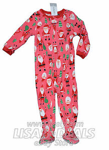 4002ae5fe747 Girls Toddler Carter s Fleece Footed Pajama Sleepwear 6M 12M 18M 24M ...