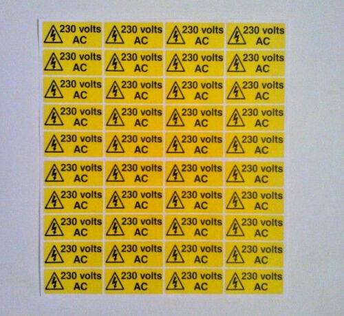 240v AC di tensione ADESIVI DI SICUREZZA ELETTRICA 110v 230v