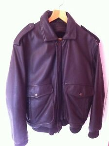 half off 5459e 2556d Details about Men's Redskin Brown Leather Flying Jacket 'Type B32' Large