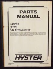 Hyster Electric N40xrs Forklift Parts Manual Unit Code A265