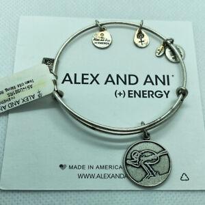 (3) Alex And Ani Team USA Skiing Bangle Charm Bracelets Russian Silver Finish