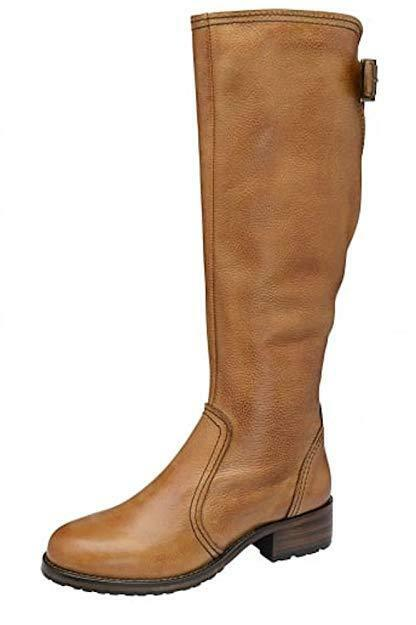 Ladies Ravel Foley Low Heel Flat Knee High High High Riding Boots Tan Leather UK 7 EU 40 d209b1