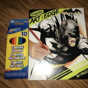 Crayola, Art With Edge, Batman Coloring Book ,30 Page With ...