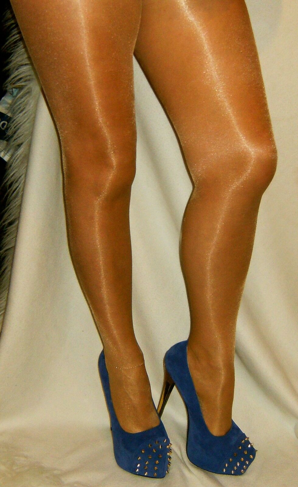 ** ** nouveau designer vente Plateformes Bleu avec des talons gold / goujons toe ** gratuite collants ***