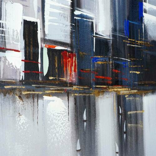 120x90cm 100/% handgemaltes Wandbild Gemälde XL Ölgemälde Skyline New York