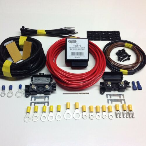 12V 2mtr Leisure Battery Charging Kit with 70amp Voltage Sense Intelligent Relay