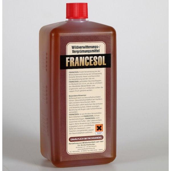 Wild Vergrämungsmittel Francesol 1L Wildschadenverhütung Verstänkerung Wildstopp