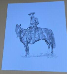 Set Of 2 Lori Neises Pencil Drawing Prints  signed Portrait