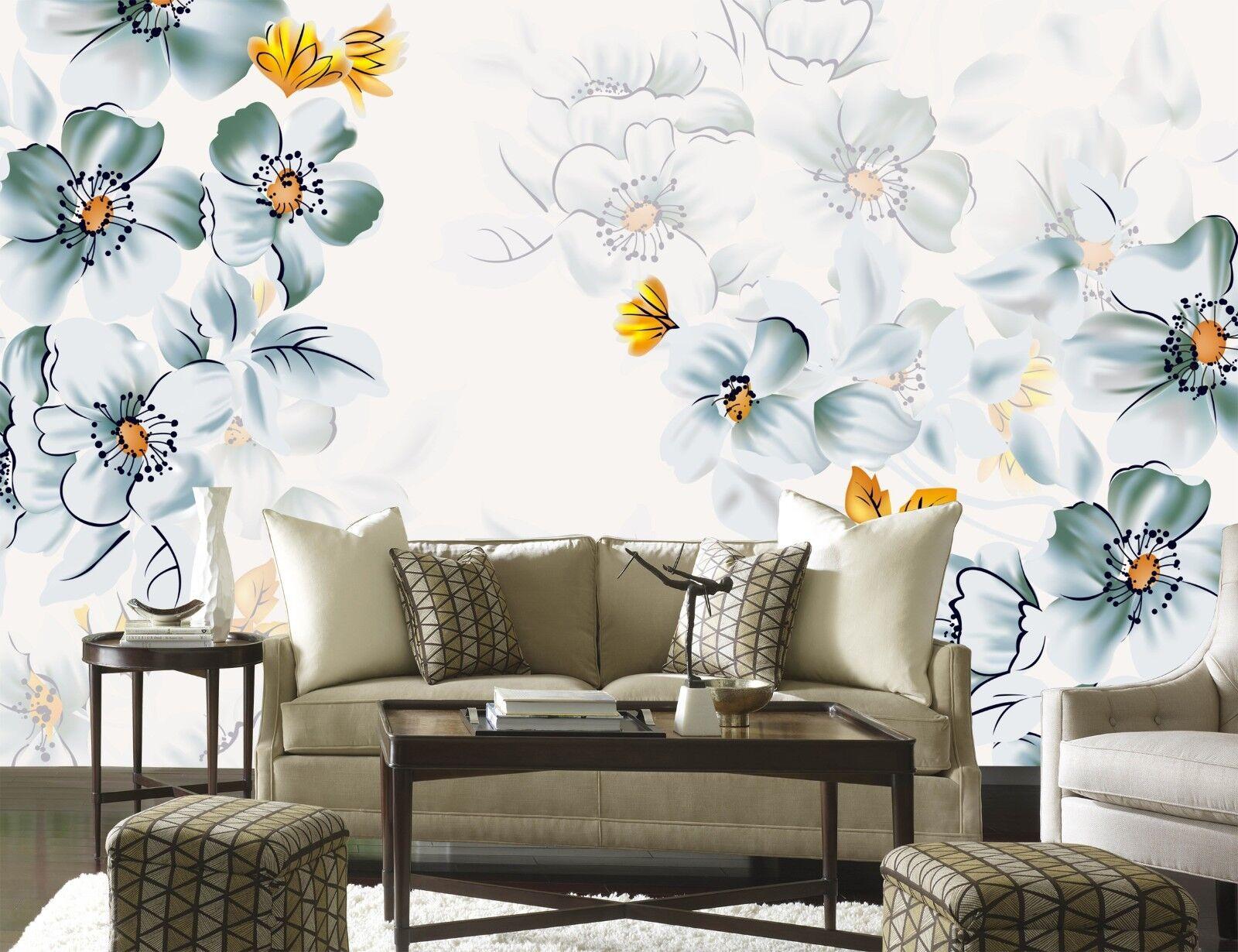 3D Gemaltes Blaumen Muster 8992 Tapete Wandgemälde Tapeten Bild Familie DE Jenny