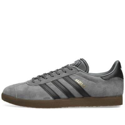 adidas Originals Gazelle Trainers Grey / Black Mens Shoes | eBay