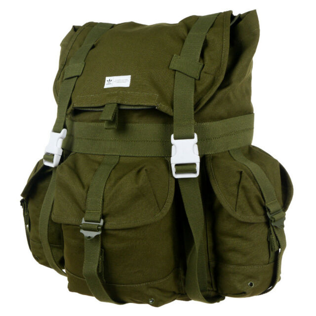 adidas Originals Backpack Green Military Style Sports Touristic Trips for  sale online