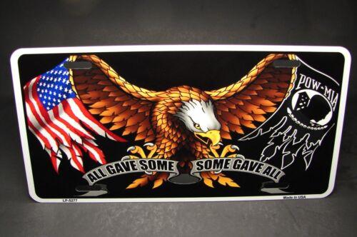 Pow Mia Metall Aluminium Auto Kennzeichen American Eagle Amerikanische Flagge