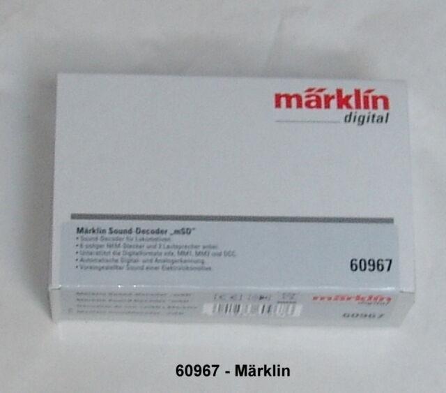 Märklin 60967 Märklin Sounddecoder Msd. # Nuovo in Confezione Originale #