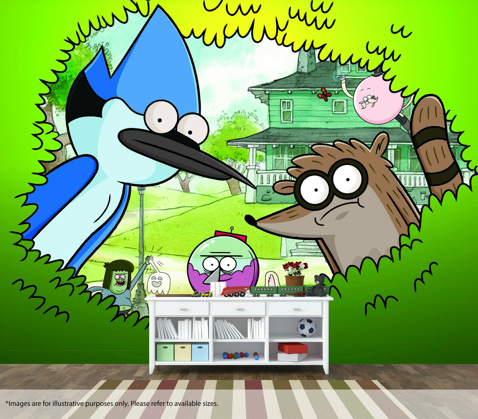 The Regular Show Wall Mural Wall Art Quality Pastable Wallpaper Decal