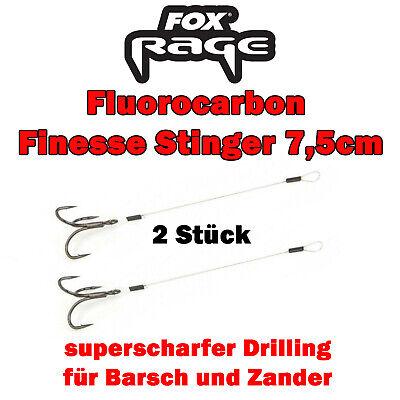 Fox Rage Flurocarbon Finesse Stinger Stingerhaken für Softbaits 2 Angsthaken
