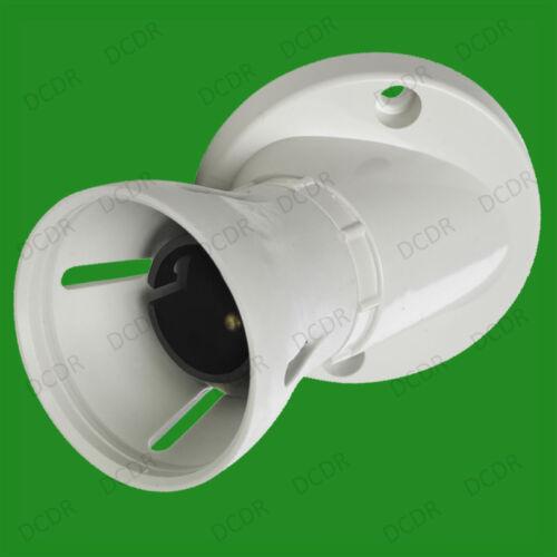 6x Bayonet Batten White Ceiling Lampholder BC B22 Light Bulb Socket Lamp Fitting