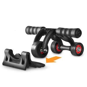pro ab 3 wheel roller perfect fitness gym exerciser. Black Bedroom Furniture Sets. Home Design Ideas