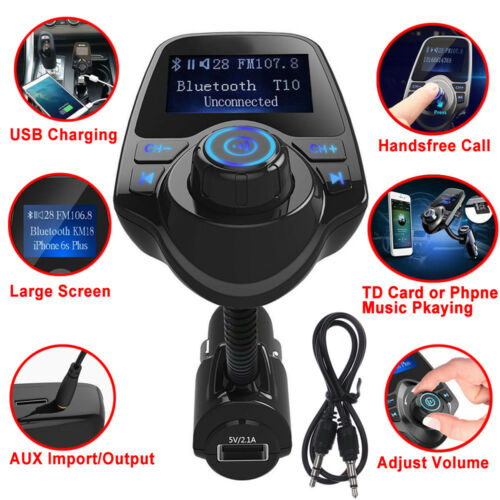 Quality Wireless Bluetooth Car Audio Receiver FM Transmitter Adapter USB Charger