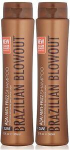 Brazilian Blowout Acai Anti Frizz Shampoo, 12 Ounce (Pack Of Two)