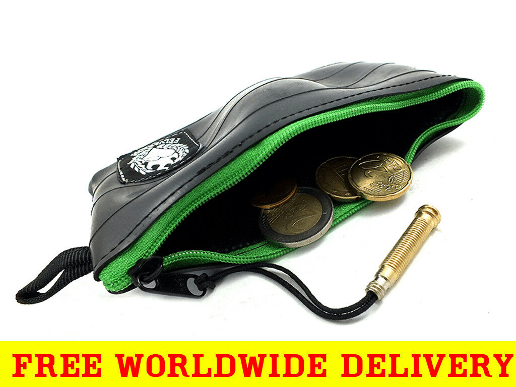 MENS COIN POUCH Purse in MANY COLORS from Reclaimed Bicycle Tube + FREE DELIVERY