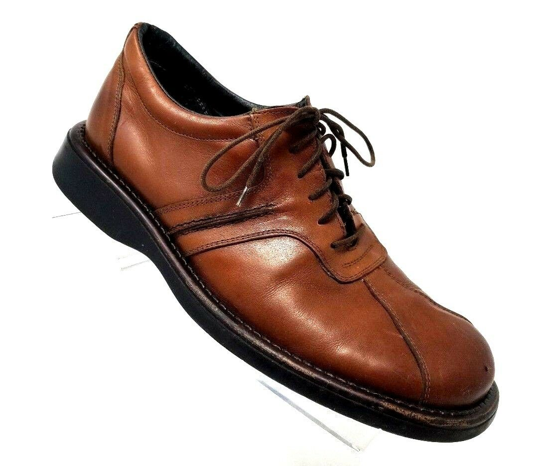 Men's Kenneth Cole Reaction Lace Up Brown Dress Oxford Bicycle Toe Shoes 10.5 M
