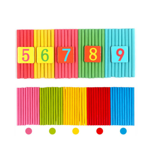 Wooden Math Toys Education Number Calculate Game Learning Counting Kids Toys