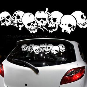 Autoaufkleber-Heckaufkleber-Auto-Aufkleber-Sticker-Heckscheibe-Totenkopf-S-154