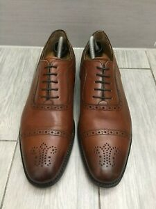 CHARLES-TYRWHITT-TAN-BROWN-ALL-LEATHER-GOODYEAR-WELTED-BROGUES-UK-10-RRP-130