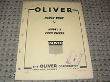 Oliver Tractor Model 3 Corn Picker Dealers Parts Book