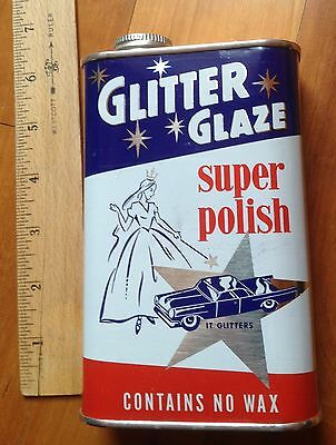 Vintage Simoniz Car Wax Polish Advertising Tin  1940s Rustic Industrial Decor