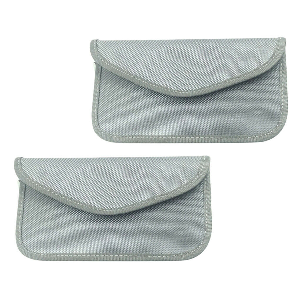 2-Pack Large 3G LTE GPS RFID Signal Blocking Bag Wallet Case Cell Phone