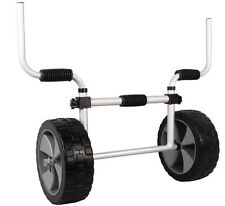 Adjustable Sit-On-Top Kayak Canoe Aluminum Scupper Dolly Cart Carrier Trolley