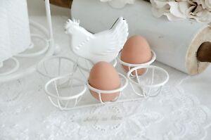 Das Bild Wird Geladen  Clayre Amp Eef Eierhalter Eierkorb Eierstaender Shabby Chic