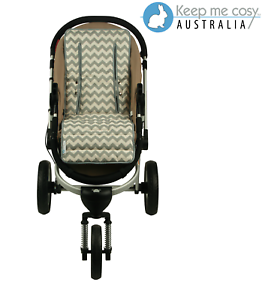 Keep-Me-Cosy-Pram-Liner-Universal-fit-Reversible-cotton-Grey-Chevron-design